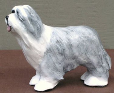 Bearded Collie Dog Figurine