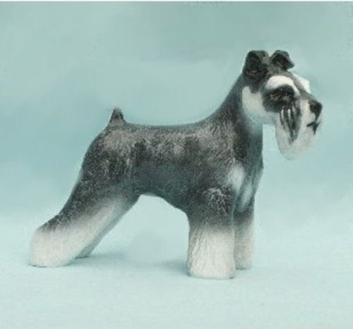 Schnauzer Dog Figurine Natural Ear