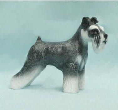 Schnauzer Dog Figurine Natural Ear