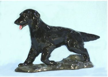 Flat Coated Retriever Dog Figurine