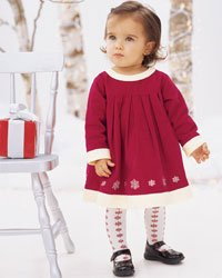3c87b8269222c Christmas Hanna Andersson Little Red Dress & Tights 100 4-5