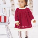 Christmas Hanna Andersson Little Red Dress & Tights  100 4-5