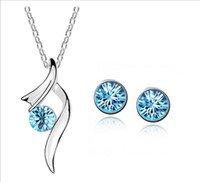 Blue Austria Crystal Earring & Necklace Set
