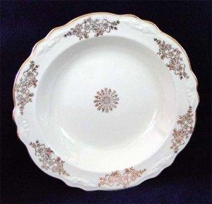 Homer Laughlin Golden Rose Virginia Rose Soup Bowl Gold Floral