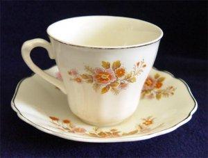 J&G Meakin Sunshine Cup & Saucer Orange Yellow Floral Teacup England