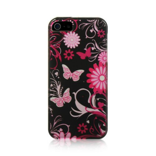 IPHONE® 5/5S CRYSTAL CASE PINK BUTTERFLY