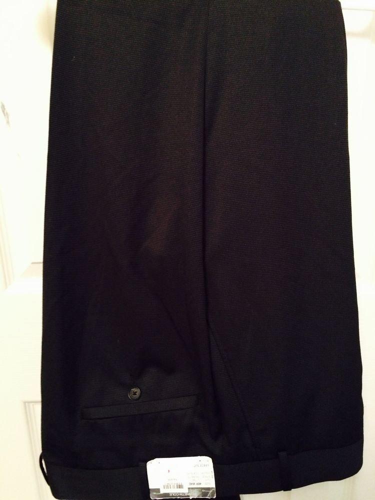 Kenneth Cole Reaction 3 Piece Suit Black Pants