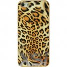 Apple iPhone 5S Gold Case Leopard Patterned, Pictorial and Rigid Plastic