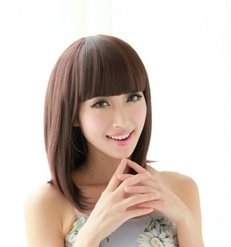 New Women Short Synthetic Full Wig+Cap PO288