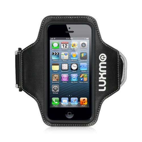 LUXMO FIT ARMBAND CASE� FUSION BLACK/BLACK FOR IPHONE 5/5s