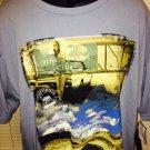 Social Republic T Shirt  Blue XXL