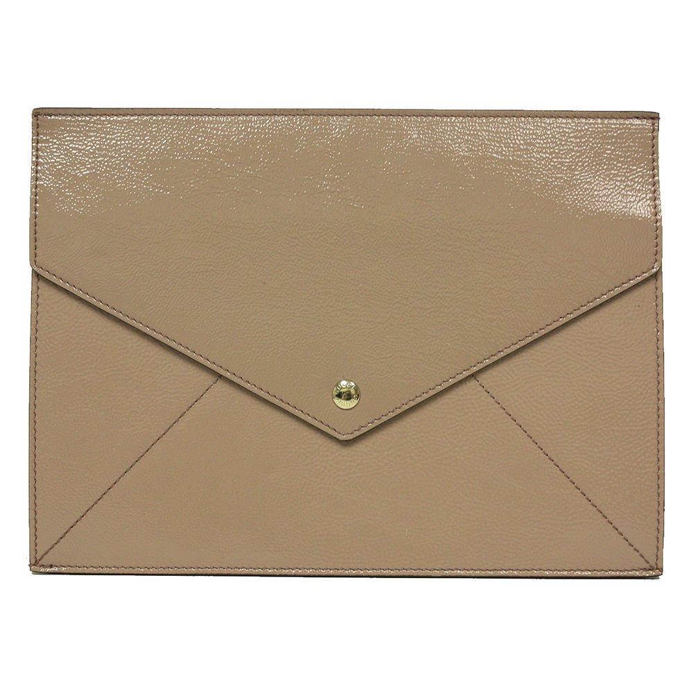 Gucci Soho Mauve Pink Patent Leather Envelope Clutch Evening Bag