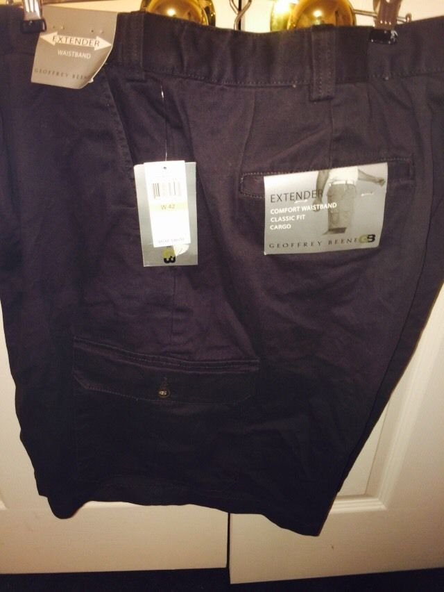 Geoffrey Beene Classic Fit Navy Cargo Shorts Size 42