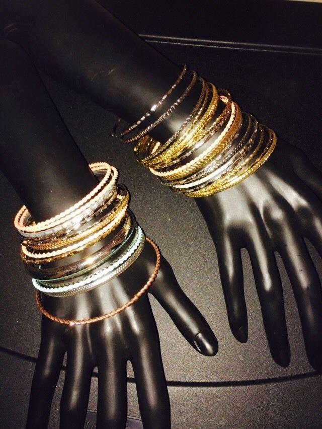 31 Multi Colored Bangle Bracelets