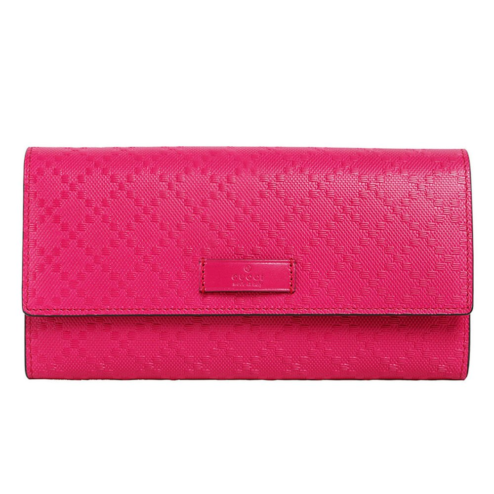Gucci Hot Pink Continental Flap Wallet