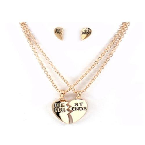 Best Friends Heart Break Necklace