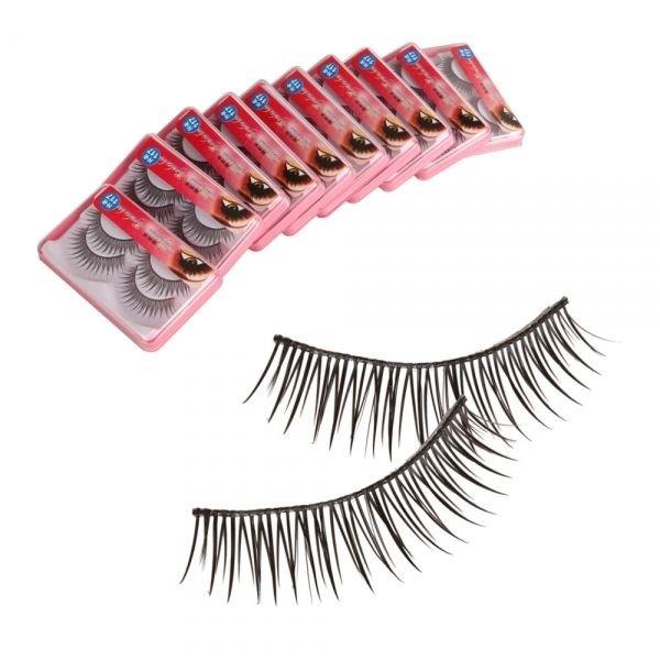 20 Pairs Soft Synthetic Fiber False Eyelash Style HR117