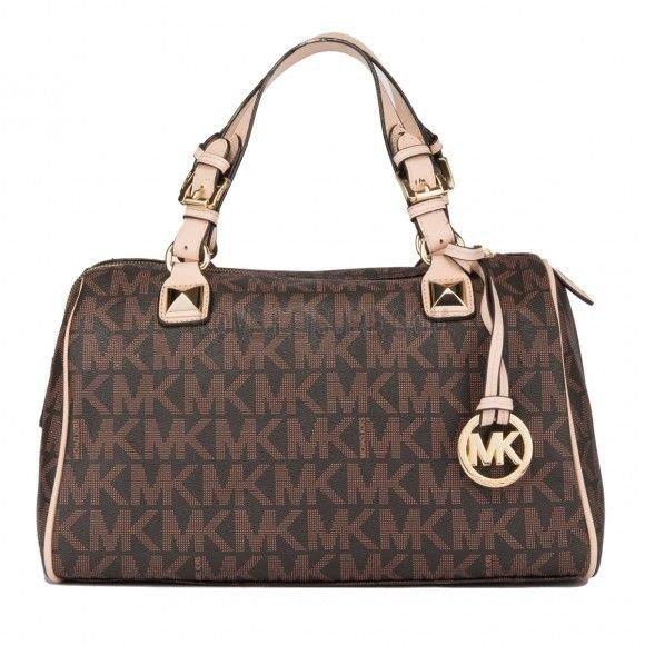 Michael Kors brown grayson handbag
