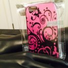 iPhone 5/5S Black Butterfly Swirl Pink Case