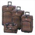 Leopard Print Luggage Ensemble (pack of 1 SET)