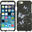 Iphone  6 (4.7″) Crystal Purple Butterfly Black Case