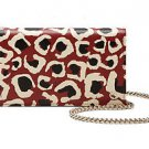 Gucci Leopard Print Red Leather Chain Crossbody Bag