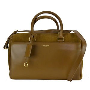 YSL Saint Laurent 6 Hour Duffel Bag Calfskin Leather and Suede