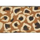 Gucci Leopard Camel Black GG Logo Leather Zip Around Wallet