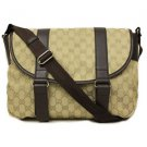 Gucci Canvas and Leather Large Crossbody Messenger Bag