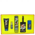 Love  Luck by Christian Audigier Gift Set -- 3.4 oz Eau De Toilette Spray  3 oz