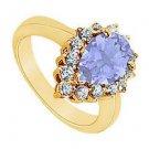 Tanzanite and Diamond Ring  14K Yellow Gold - 1.50 CT TGW