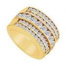 Diamond Row Ring  14K Yellow Gold - 2.00 CT Diamonds