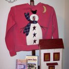 Bird On Head Primitive Snowman Applique Pattern for Quilt  Sweatshirt, PATTERN ONLY  TCB 206-1