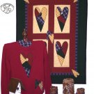 Patch Hearts Country Primitive  Applique FABRIC ONLY  TCB 204-1