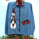 Snowbranch Mittens Primitive Snowman Applique Pattern for Quilt  Sweatshirt, PATTERN ONLY  TCB 203