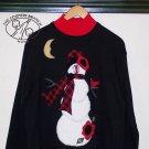 Snowmen Pattern #TCB204-3 Applique Sweatshirt Primitive Country Applique FABRIC ONLY  TCB 204-3