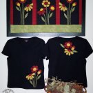 Spring Flowers Primitive Country Applique FABRIC ONLY TCB206-2