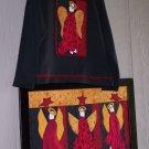 Angels Rejoice Primitive Country Applique Pattern & Fabric Kit for Picture Quilt  TCB  207-2Q