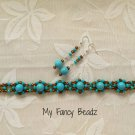 Bold Turquoise Bracelet and Earrings Set