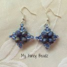 Indigo/Blue Diamond Earrings