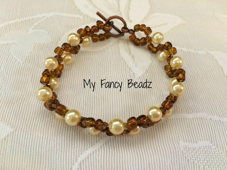 Brown and golden spiral Bracelet