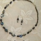 Shades of Gray Necklace and Earrings Set