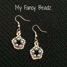 Sahdes of gray open floweret earrings