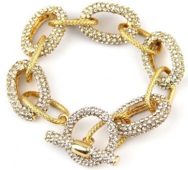Trendy Pave Chain Bracelet