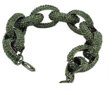 Pave chain bracelet