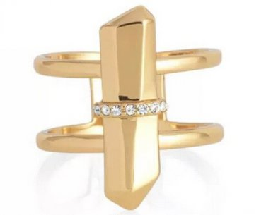 18K Gold Plated Double Adjustable Ring