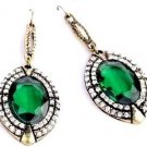 Ancient Style emerald green Drop Earrings