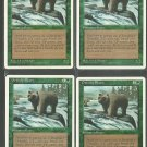Grizzly Bears x4 - NM - 4th Edition - Magic the Gathering