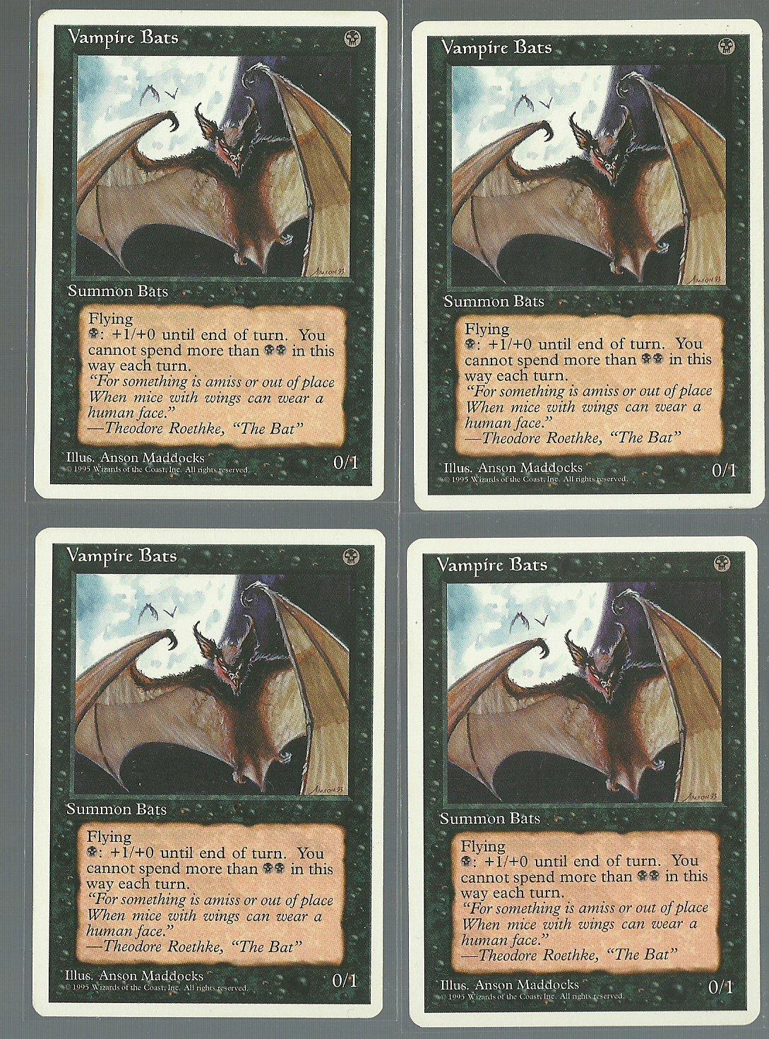 Vampire Bats x4 - NM - 4th Edition - Magic the Gathering