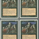 Drudge Skeletons x4 - NM - 4th Edition - Magic the Gathering